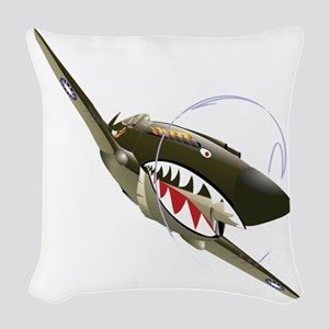 Flying Tigers Woven Throw Pillow
