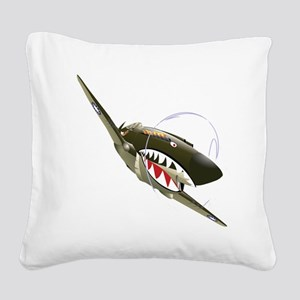 Flying Tigers Square Canvas Pillow