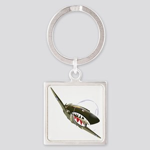 Flying Tigers Square Keychain