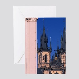Church of our Lady Before Tyne, Chur Greeting Card