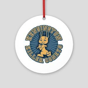 killer-coneys-RND-T Round Ornament