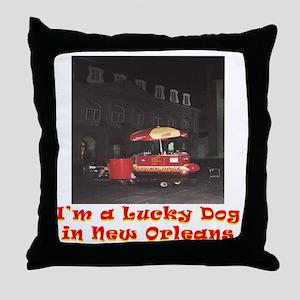 Im a Lucky Dog Throw Pillow