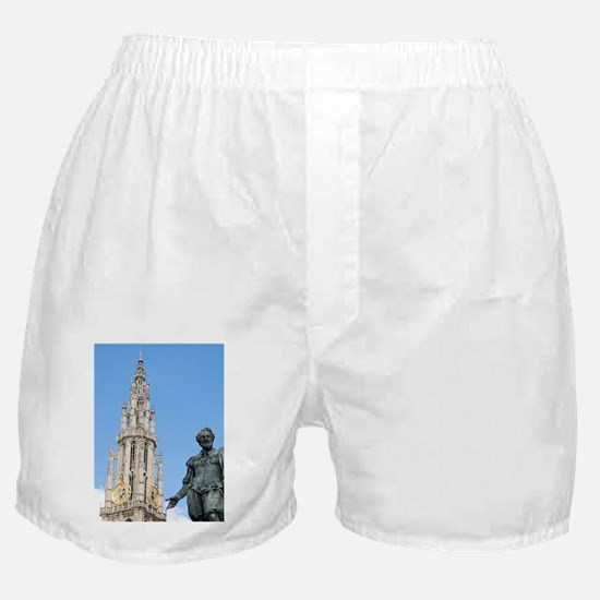 Statue of Rubens and Our Lady's Cathe Boxer Shorts