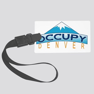 Occupy Denver Large Luggage Tag
