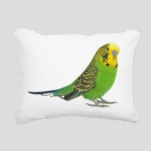green parakeet Rectangular Canvas Pillow