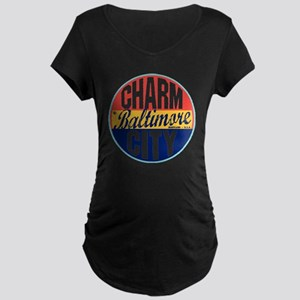 Baltimore Vintage Label W Maternity Dark T-Shirt