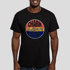 Baltimore Vintage Labe Men's Fitted T-Shirt (dark)