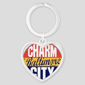 Baltimore Vintage Label W Heart Keychain