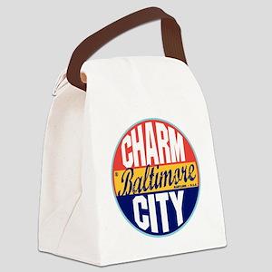 Baltimore Vintage Label W Canvas Lunch Bag