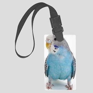 blue parakeet Large Luggage Tag