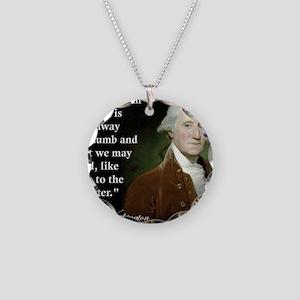 george-washington-freedom-of Necklace Circle Charm