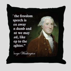 george-washington-freedom-of-speech-q Throw Pillow