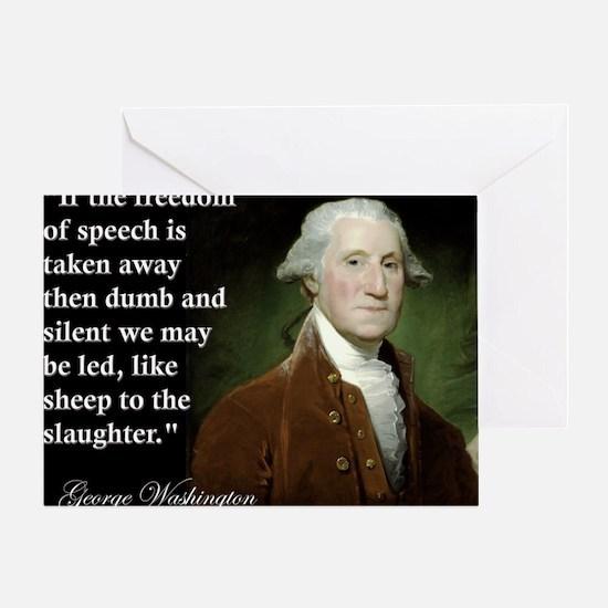 george-washington-freedom-of-speech- Greeting Card