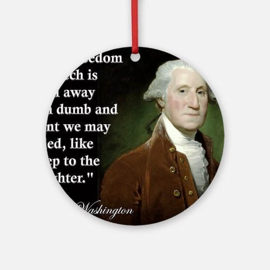george-washington-freedom-of-speech Round Ornament