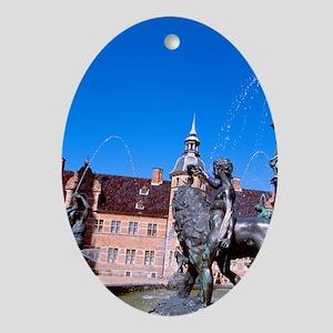 Castle fountain. Home of Copenhagen' Oval Ornament