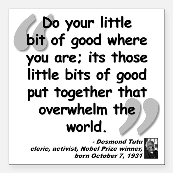 "Tutu Good Quote Square Car Magnet 3"" x 3"""