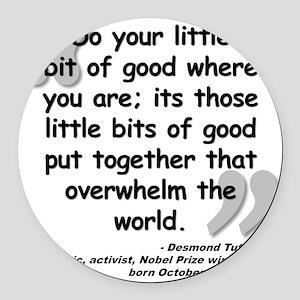 Tutu Good Quote Round Car Magnet