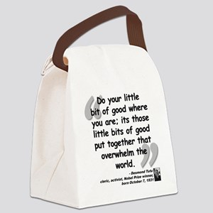Tutu Good Quote Canvas Lunch Bag