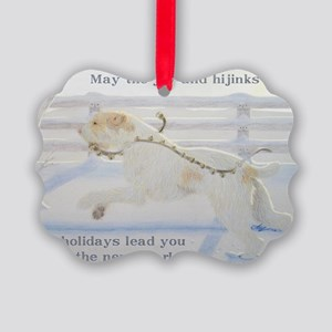 SpinoneHolidayCard Picture Ornament