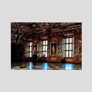 Castle interior, Grand Ballroom.  Rectangle Magnet