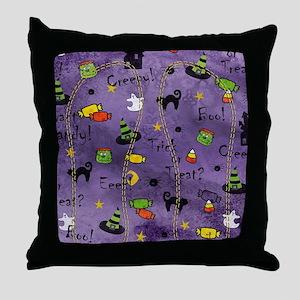 PurpleBG Throw Pillow