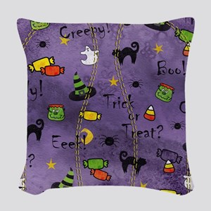 PurpleBG Woven Throw Pillow
