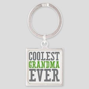 Coolest Grandma Square Keychain