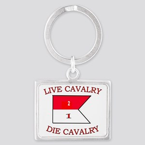 2nd Squadron 1st Cavalry Cap3 Landscape Keychain