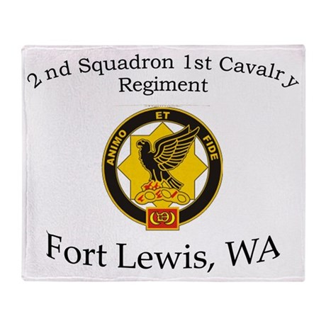 2nd Squadron 1st Cavalry Throw Blanket