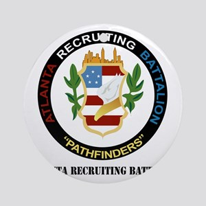 DUI - Atlanta - Recruiting Bn with  Round Ornament