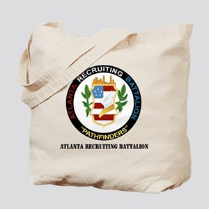 DUI - Atlanta - Recruiting Bn with text Tote Bag