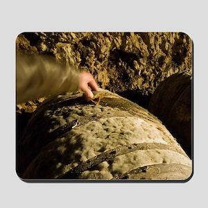 Old barrels of calvadose, Calvados Morin Mousepad