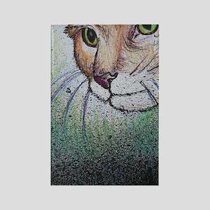 Cat! Animal, pet art! Rectangle Magnet