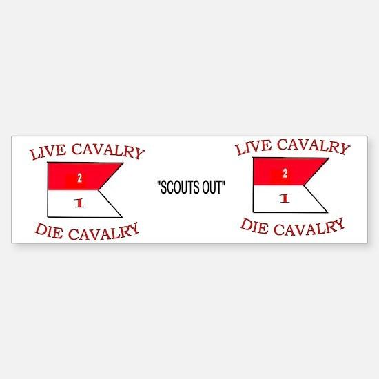 2nd Squadron 1st Cavalry Mug4 Sticker (Bumper)