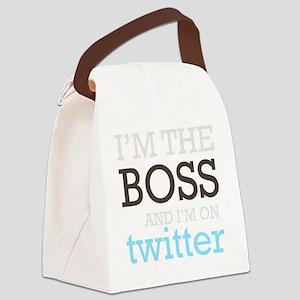 BossTwitter Canvas Lunch Bag