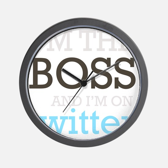 BossTwitter Wall Clock