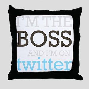 BossTwitter Throw Pillow