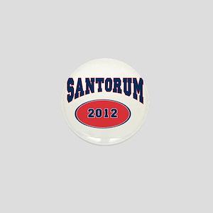 SANTORUM BLUE FONT Mini Button