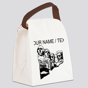 Custom Mount Rushmore Canvas Lunch Bag