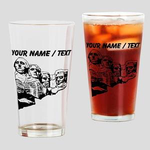 Custom Mount Rushmore Drinking Glass