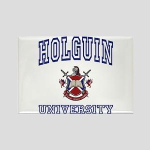 HOLGUIN University Rectangle Magnet