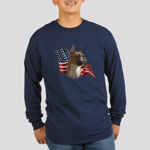 Boxer Flag Long Sleeve Dark T-Shirt