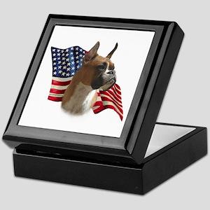Boxer Flag Keepsake Box