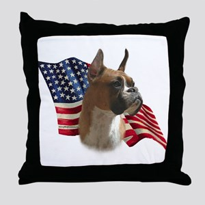 Boxer Flag Throw Pillow