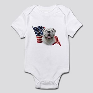 Bulldog Flag Infant Bodysuit