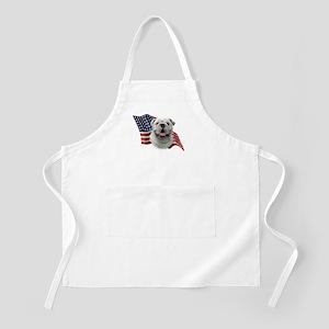 Bulldog Flag BBQ Apron