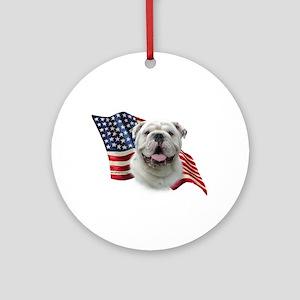 Bulldog Flag Ornament (Round)