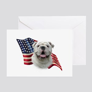 Bulldog Flag Greeting Cards (Pk of 10)
