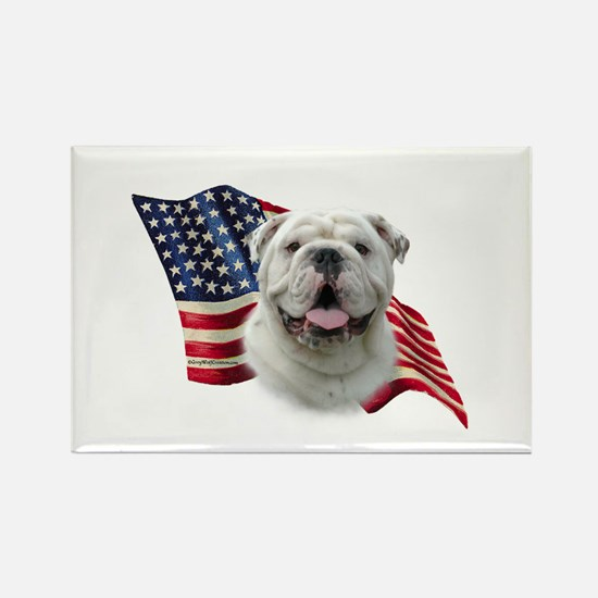 Bulldog Flag Rectangle Magnet