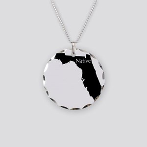 FloridaNative-light Necklace Circle Charm